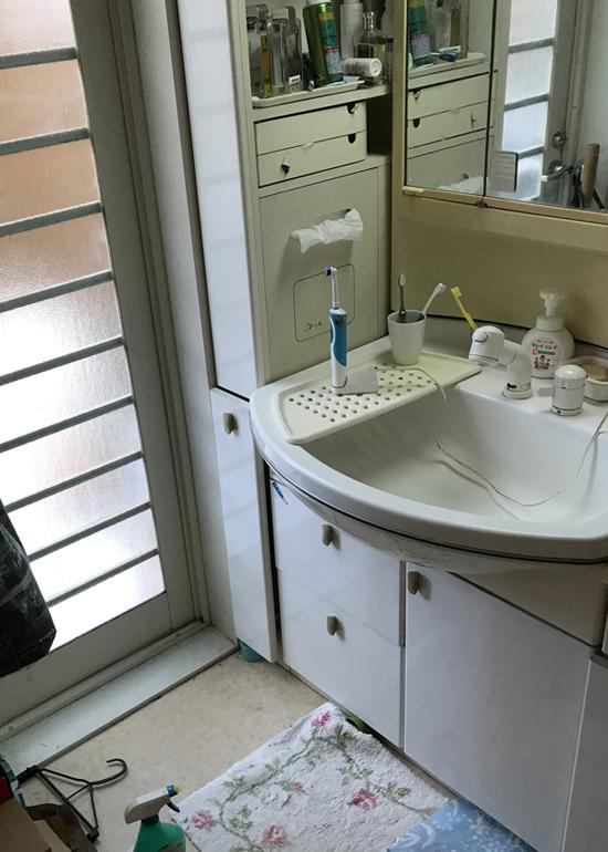 洗面化粧室改修前