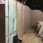 壁断熱材の上から20㎜合板貼り